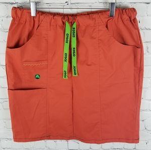 CROCS   nurse/doctor drawstring cargo scrubs skirt